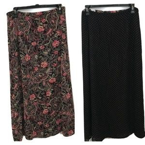 Emma James 8 Skirt Flare Reversible Dot Paisley